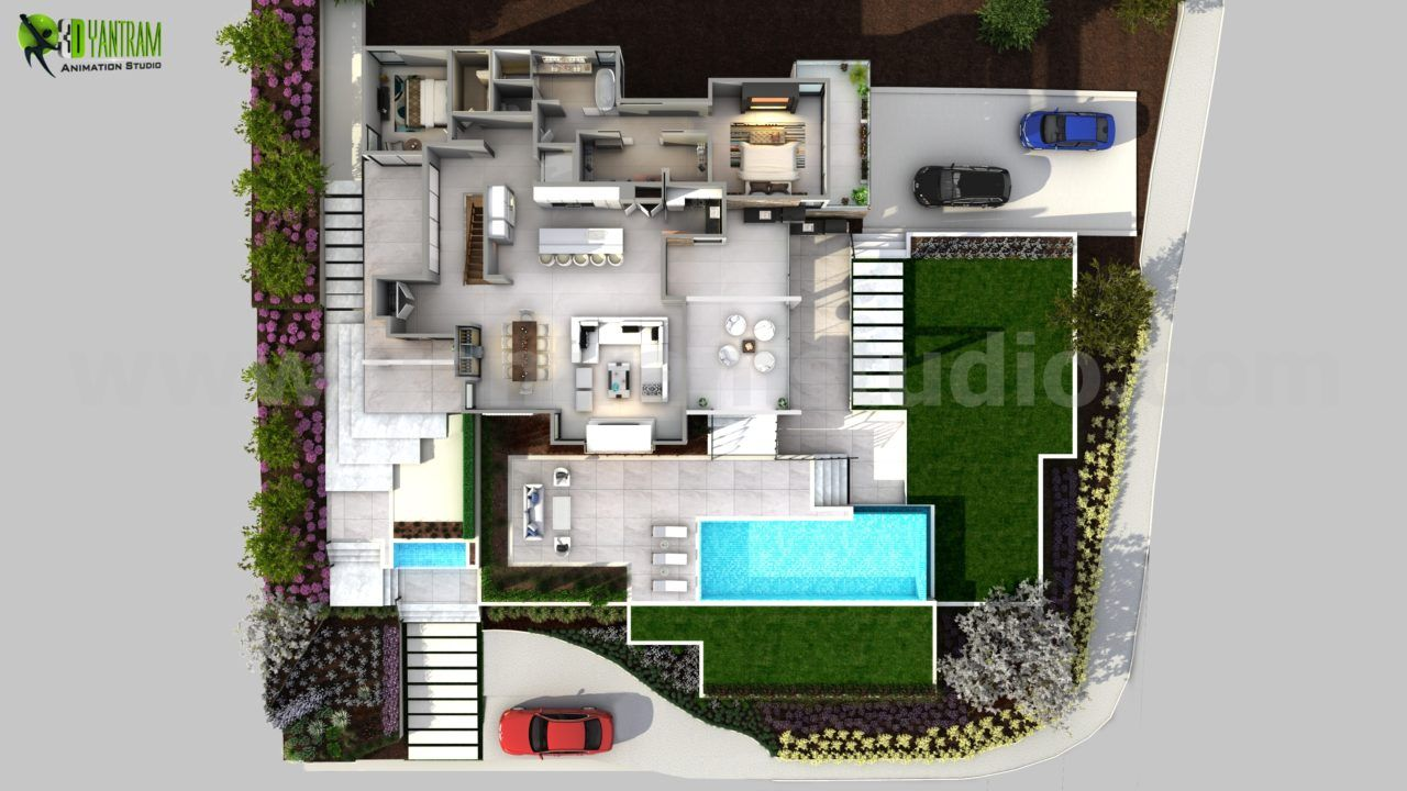 3d Conceptual Floor Plan Residential Idea Bristol Floor Plan Design Floor Plans Architectural Design Studio