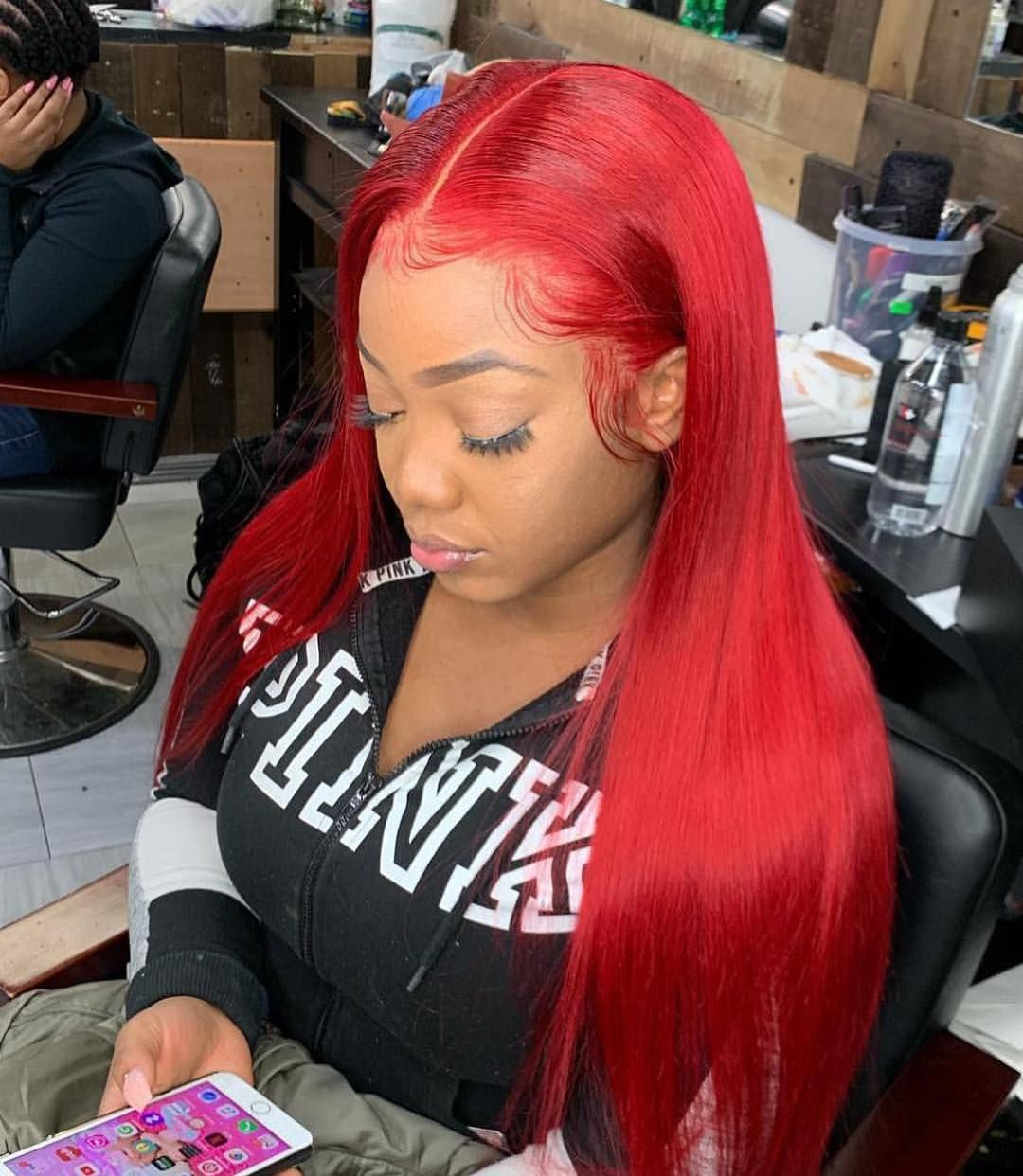 Red Weave Hairstyles With Color Full Lace Wigs For Black Women Red Weave Hairstyles Hair Styles Thin Hair Styles For Women