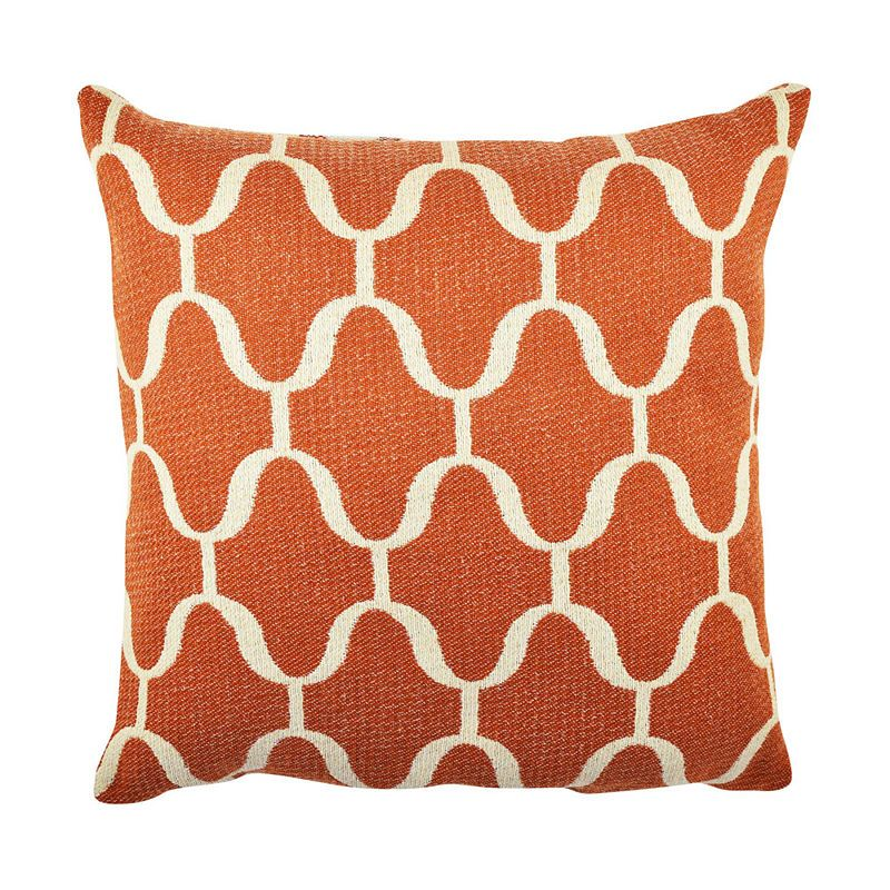 Orange Moroccan Inspired Throw Pillow
