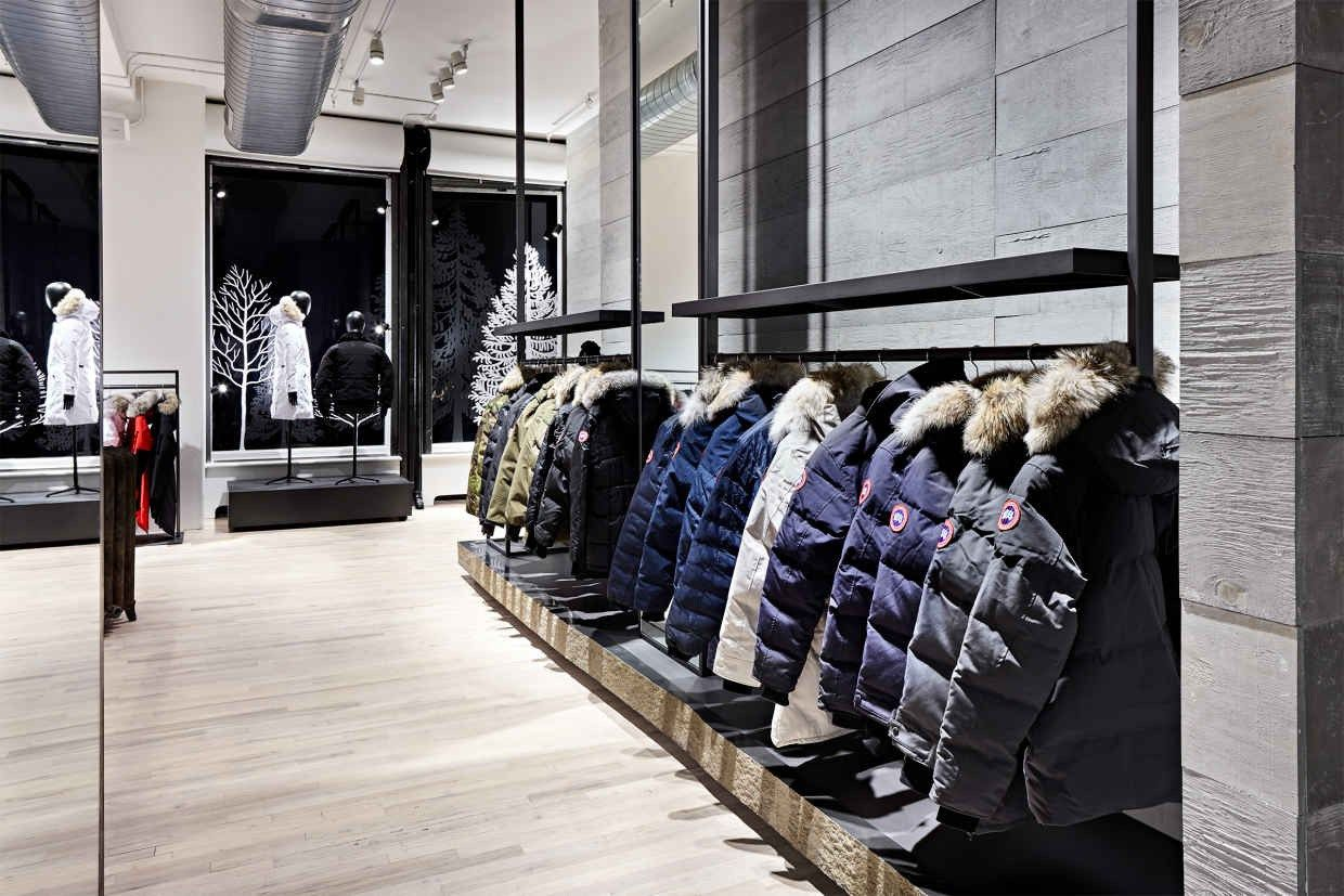 Canada Goose Launches Flagship Store In Nyc Canada Goose Store Canada Goose Retail Interior