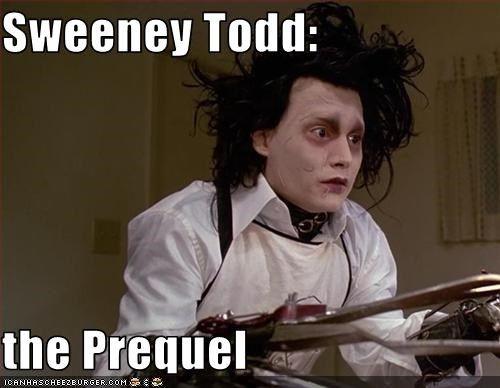 Sweeney Todd The Prequel Sweeney Todd Tim Burton Movie Johnny
