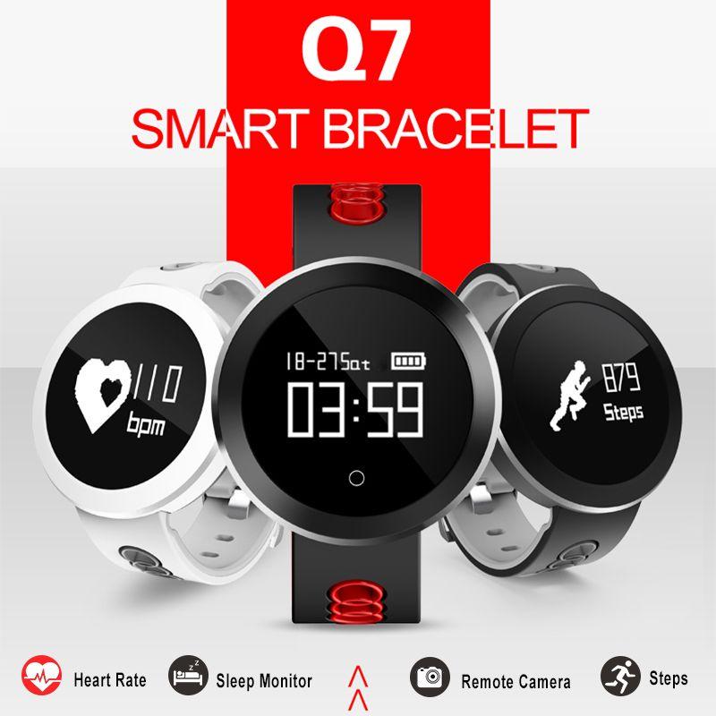KALOAD Q7 Heart Rate Blood Pressure Blood Oxygen Monitor IP68 Waterproof Smart B