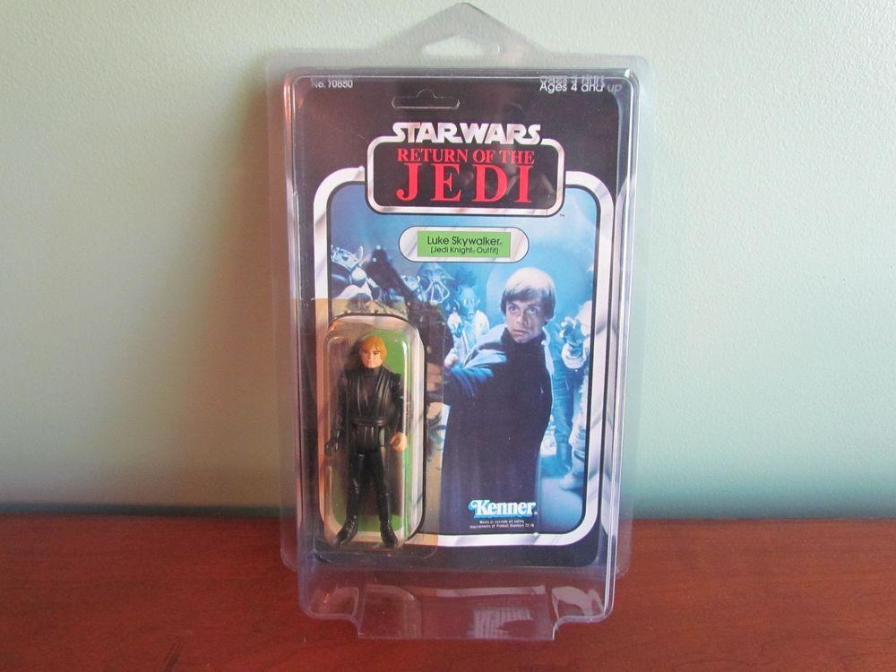 Vintage Star Wars ROTJ 65 Back Luke Skywalker Jedi Green MOSC Figure Kenner MIB #Kenner
