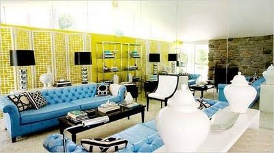 My Dream For Our Future Living Room Is Hollywood Regency Style, Tufted  Large Sofas,