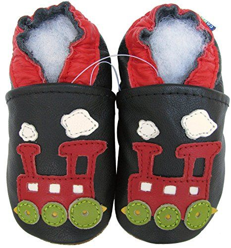 carozoo puppy navy blue 5-6y soft sole leather kid shoes