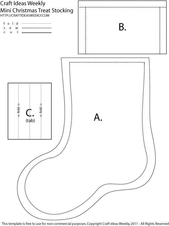 graphic regarding Christmas Stocking Template Printable identified as Xmas Stocking Sewing Template Printable