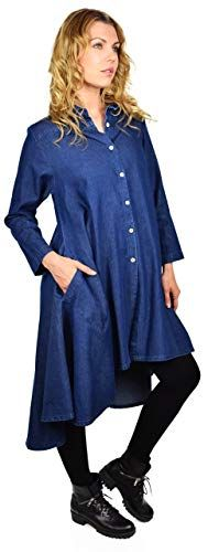 0d2adeebbe05a Dare2BStylish Hi Low Button Down A Line Swing Dress Shirt Top Reg and Plus  Sizes at Amazon Women s Clothing store