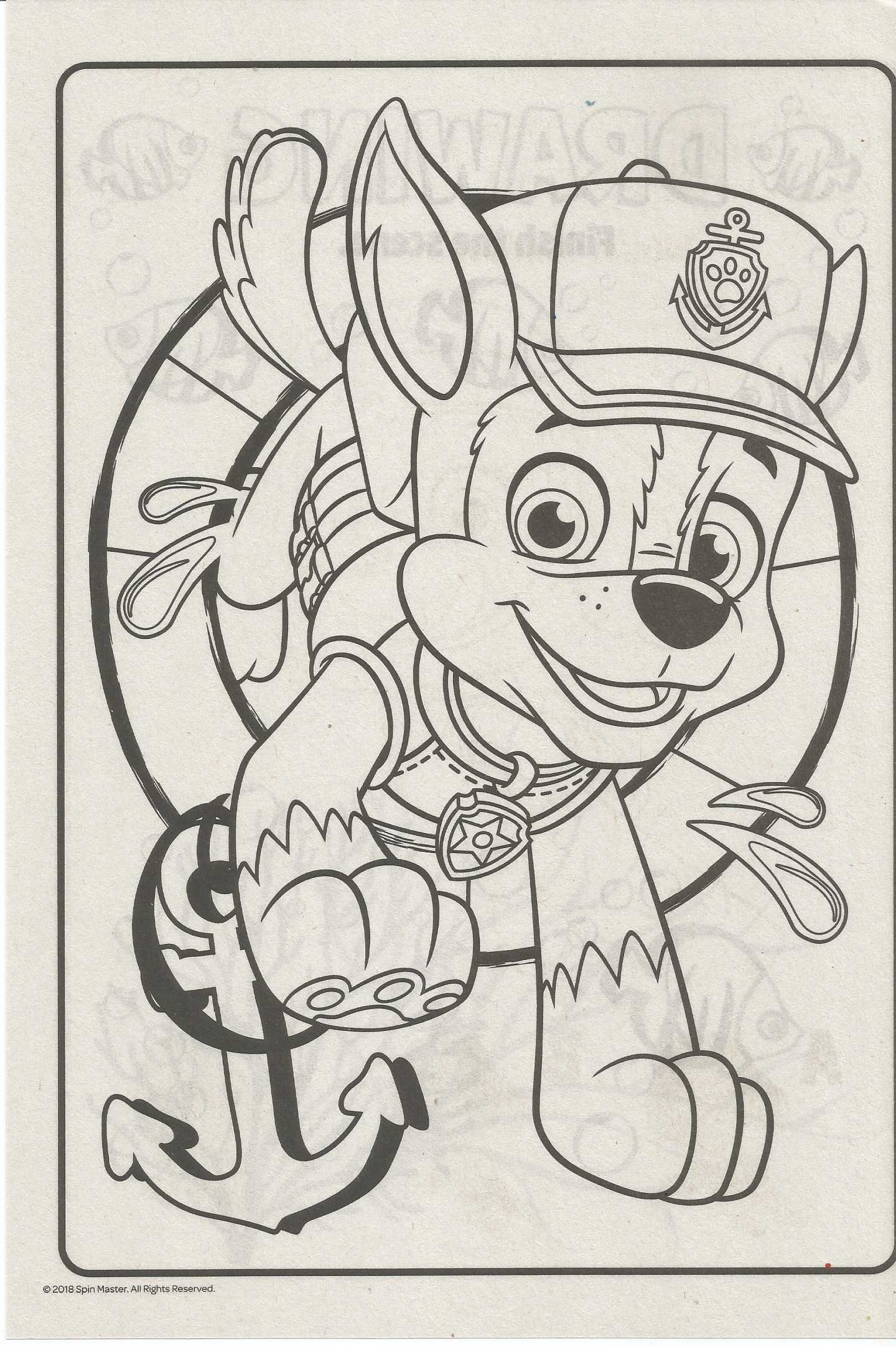Paw Patrol Coloring Page In