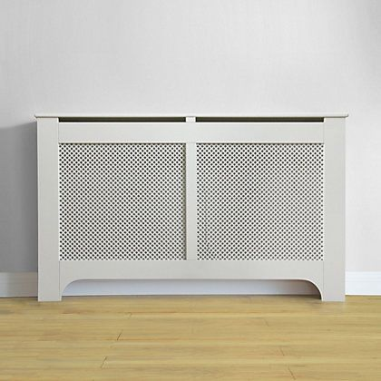 Richmond Extra Large White Radiator Cabinet Cover White Radiator