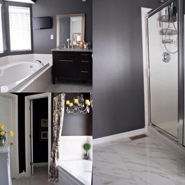 Charcoal gray master bathroom inspirations i think i 39 ll for Charcoal gray paint