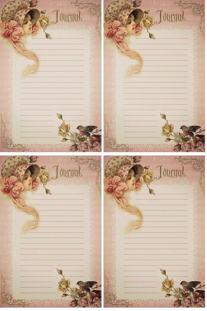 Pretty in Pink Journal Cards Free-download | bordas | Pinterest ...