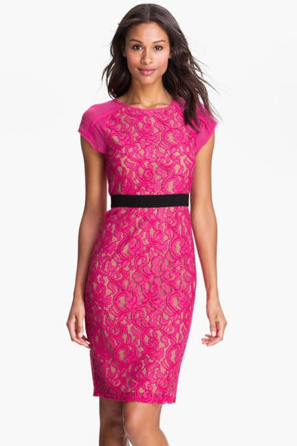 Hot Pink Lace Dress - Pink Addiction - Pinterest - UX/UI Designer ...