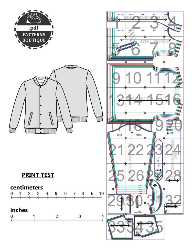 Varsity Jacket Pdf Sewing Pattern Casual Jacket For Men Etsy Mens Jacket Pattern Jacket Pattern Sewing Sewing Measurements [ 1028 x 794 Pixel ]