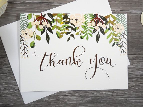Set of 8, THANK YOU CARDS, Thank You Cards Set, Thank You Notes