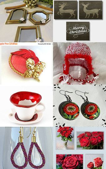 Red for Christmas! by Kim Muller on Etsy--Pinned with TreasuryPin.com