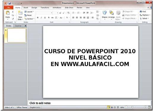 Word - Excel - Access y PowerPoint Curso de PowerPoint 2010 en