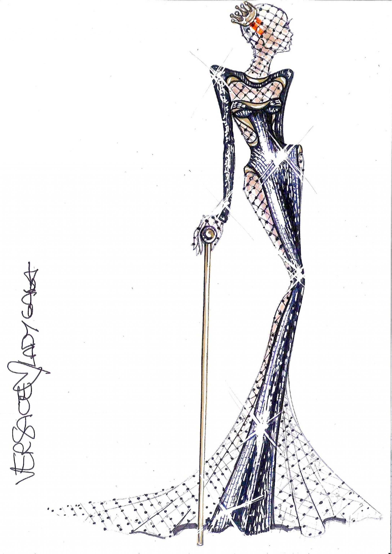 Dresses versace sketches