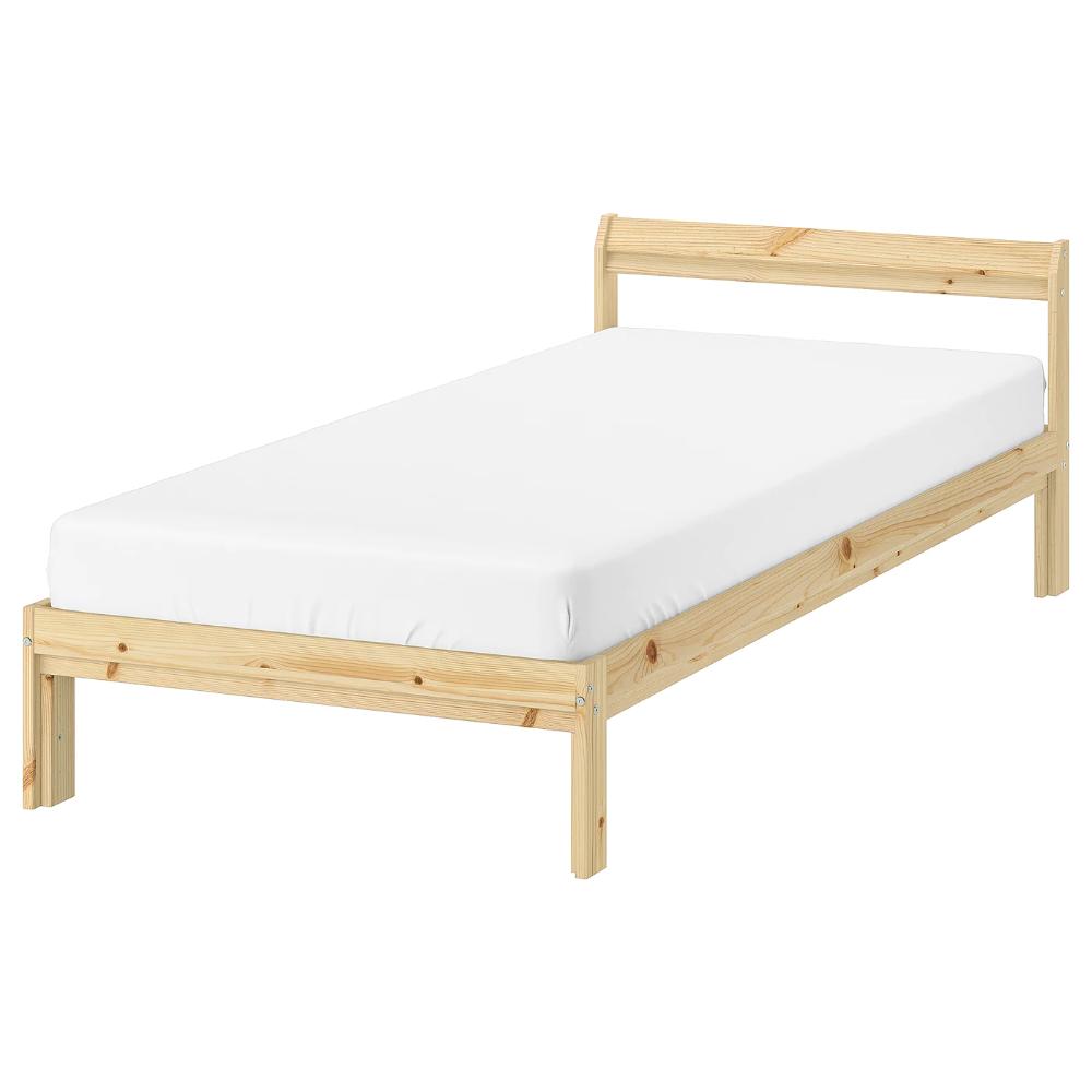 Ikea Neiden Structure Lit Pin Le Design Compact Est Ideal Pour Les Petits Espaces Ou Les Bas Plafonds Cela Permet D Optimis In 2020 Bed Frame Twin Bed Frame Ikea