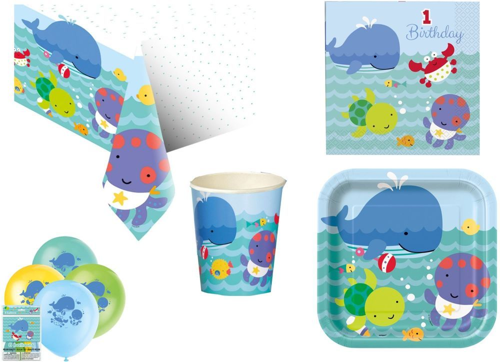 1st FIRST BIRTHDAY BOY / BOYS PARTY TABLEWARE UNDER THE SEA PALS - SEA CREATURES  sc 1 st  Pinterest & 1st FIRST BIRTHDAY BOY / BOYS PARTY TABLEWARE UNDER THE SEA PALS ...