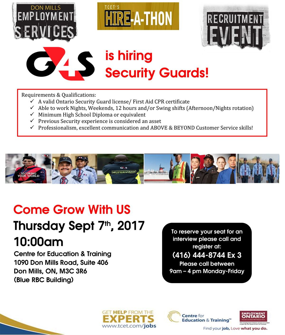 Looking For Work In The Security Industry This Thursday September