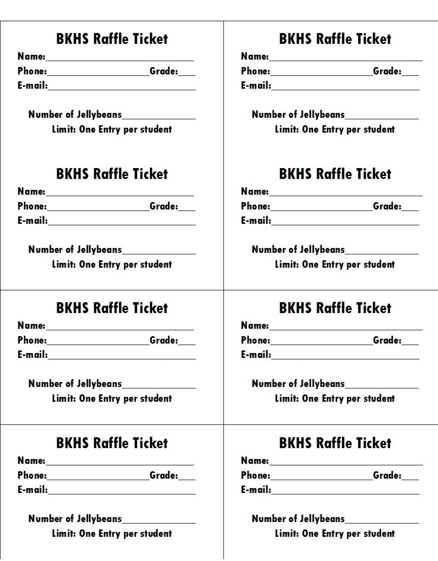 Free Raffle Ticket Template For Mac With Free Raffle Ticket Template For Word