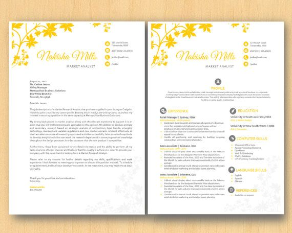 Yellow Foliage Stylish Microsoft Word Resume    By Inkpower