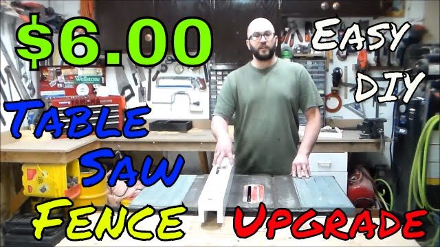 $6.00 Table Saw Fence Upgrade Made Using a White Melamine ...