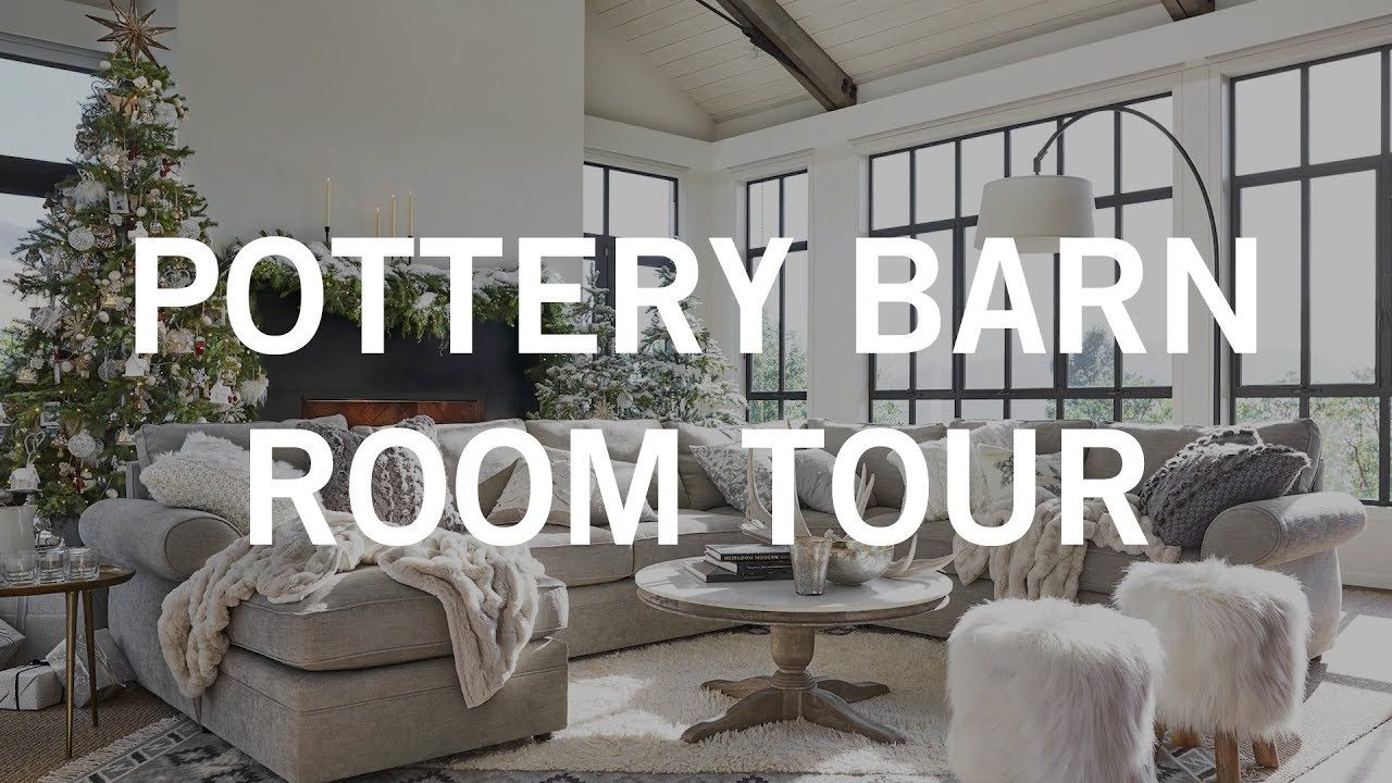 Pottery Barn Room Tour Cozy Luxe Holiday Living Room With Images Pottery Barn Living Room Barn Living Coffee Table Pottery Barn