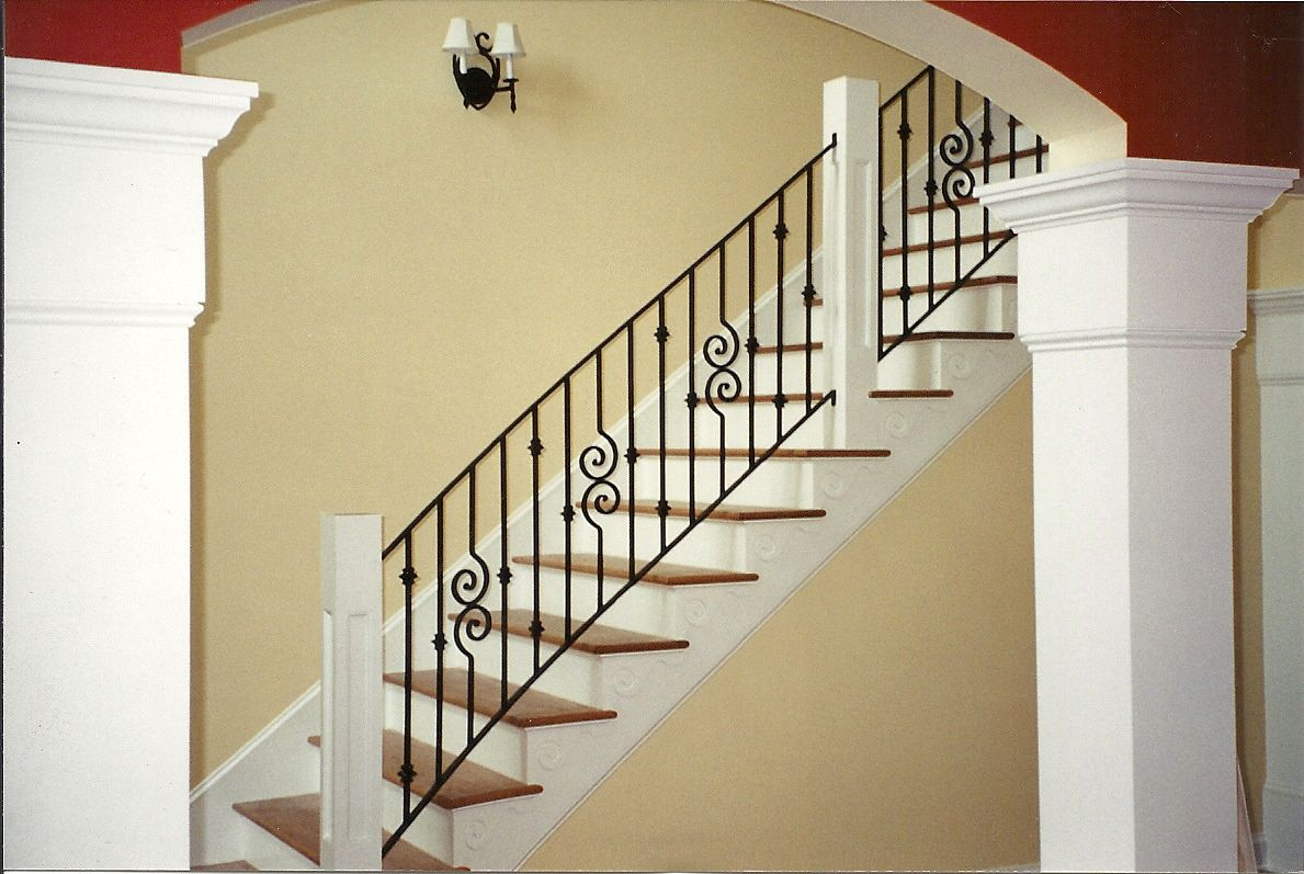 Cool metal railing in a home | Wrought Iron - Metal we made ...