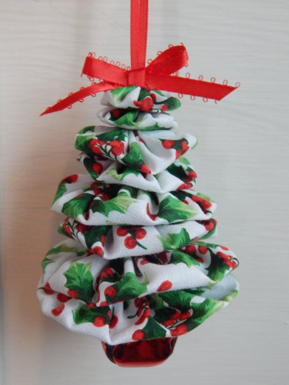 Christmas Holly Tree Ornament by SursyShop on Etsy, $600 navidad