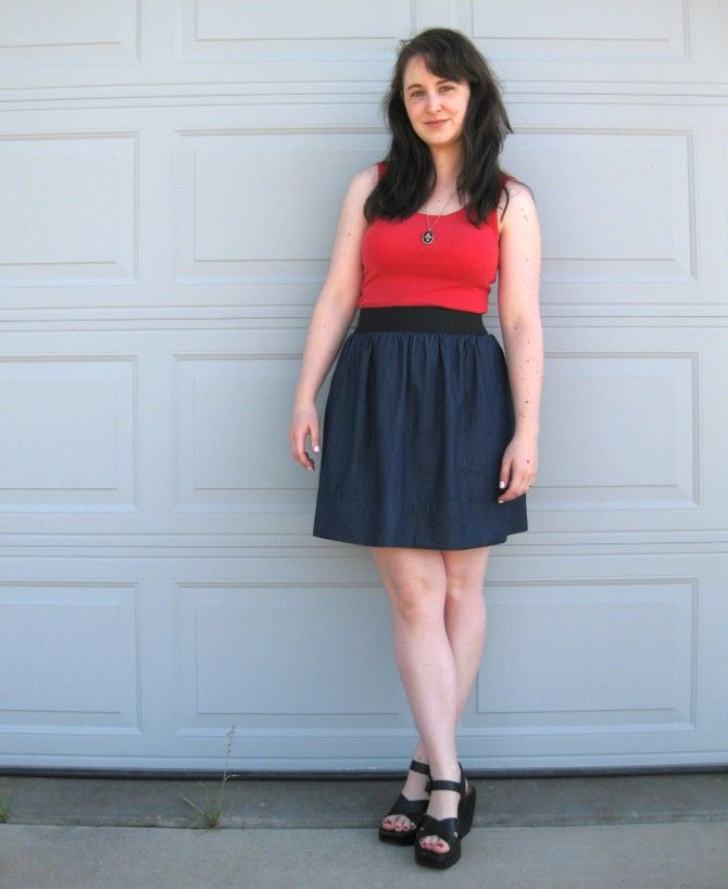 bfff235e8607 How to make an elastic waistband dress DIY - super cute! Maybe something  flowery for the bottom with the same color for a fabric rose on the shirt
