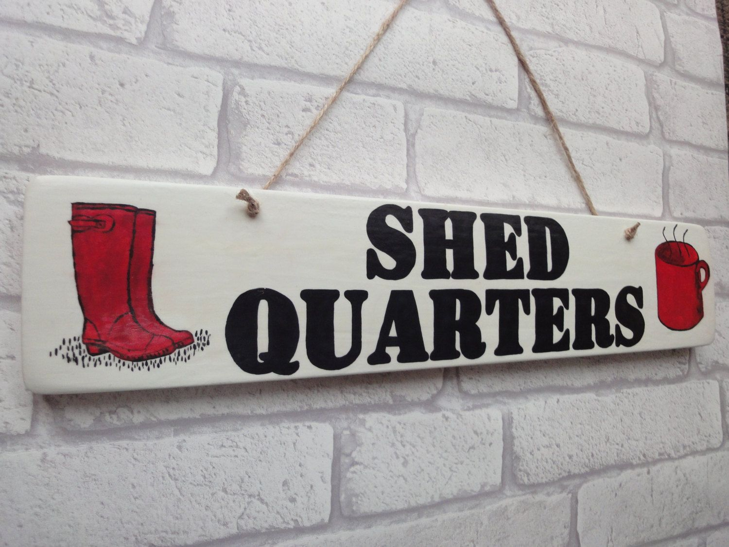 Shedquarters Sign | Garden Shed Sign | Gardening Gift | Gift For Gran | Gift  For Mum | Man Cave Gift | Allotment Sign | Personalised Gift