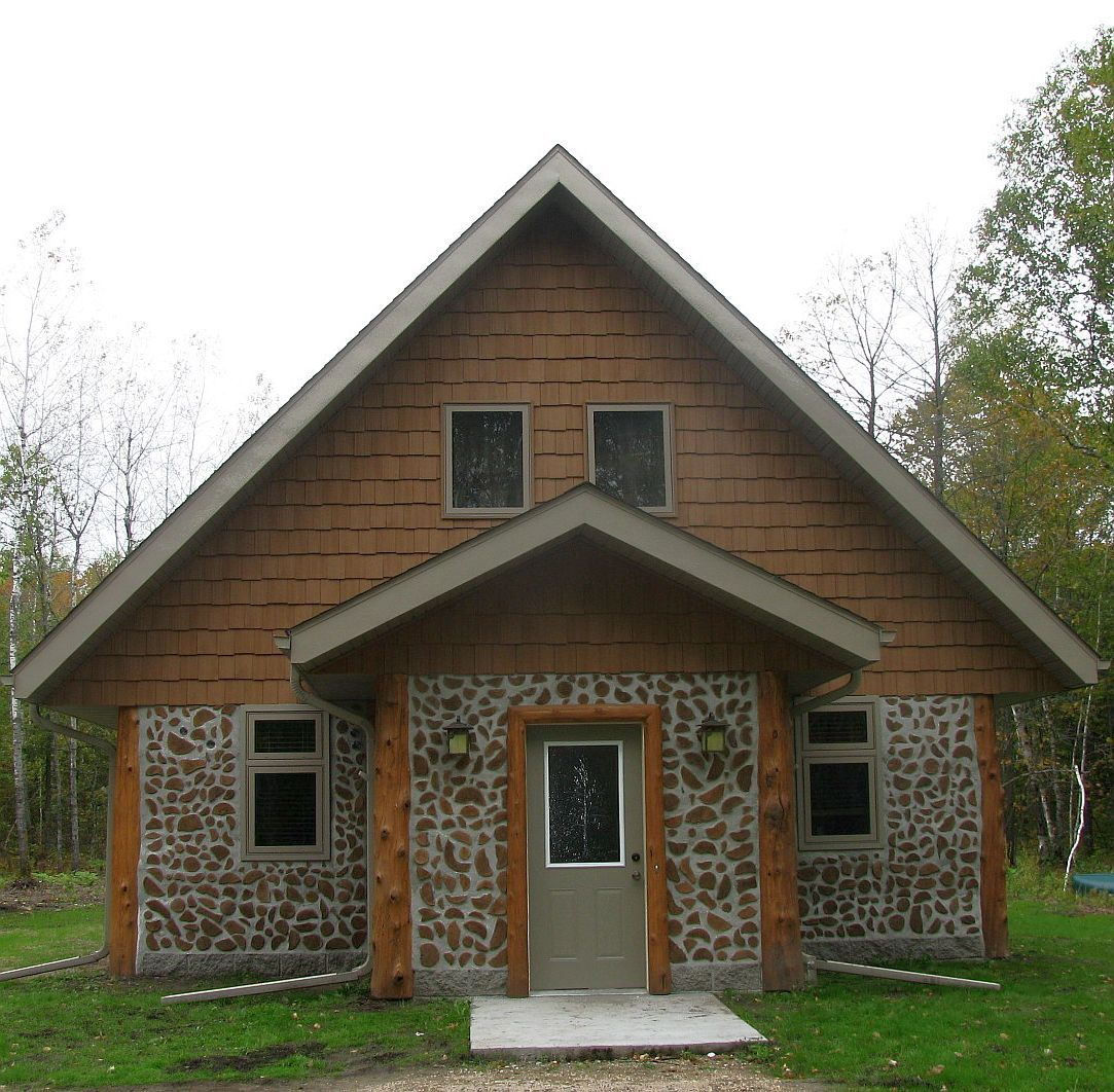 White Earth Reservation Cordwood Home Construction Earth And Cabin