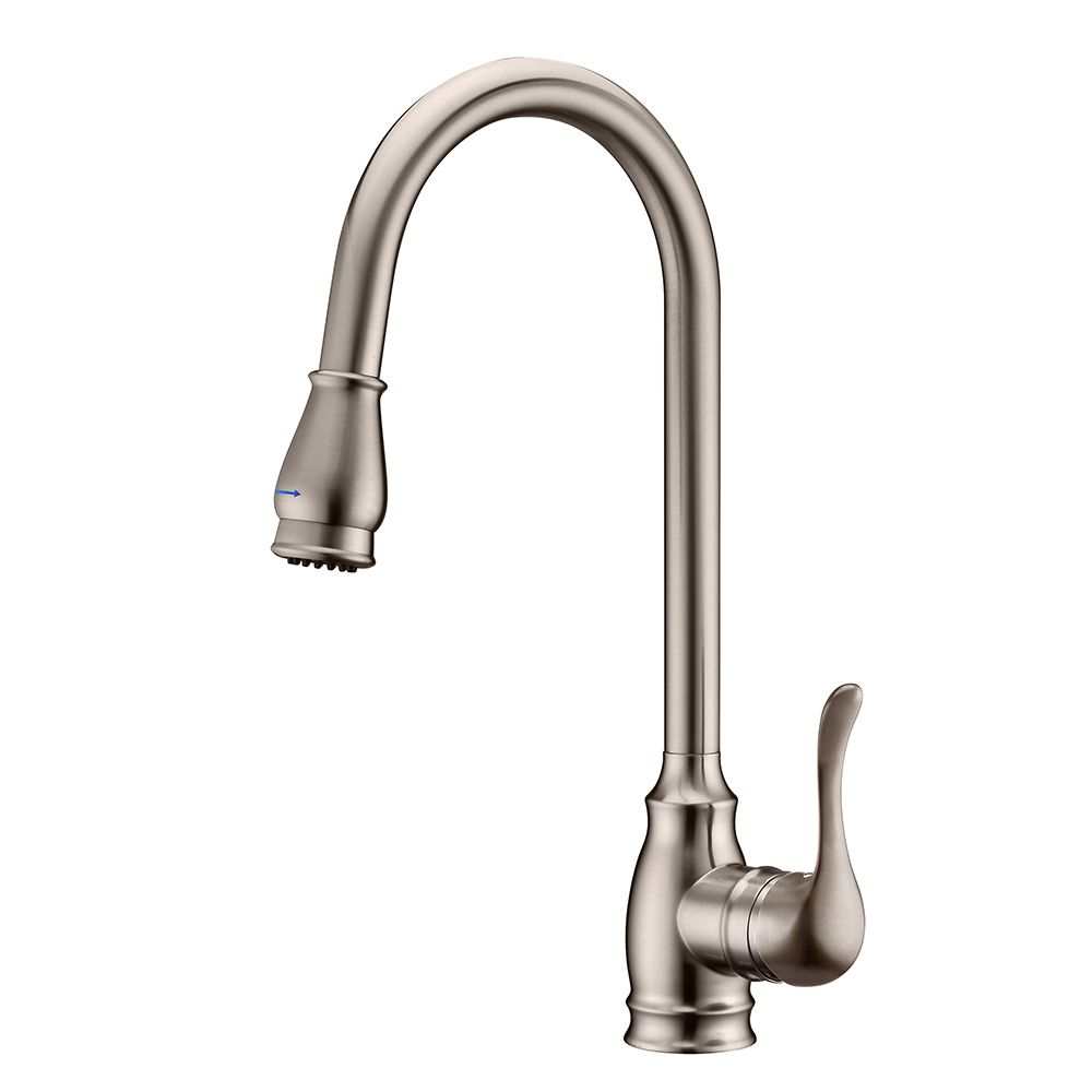 Fontaine Fiorella Brushed Nickel 1-Handle Pull Down Kitchen Faucet ...