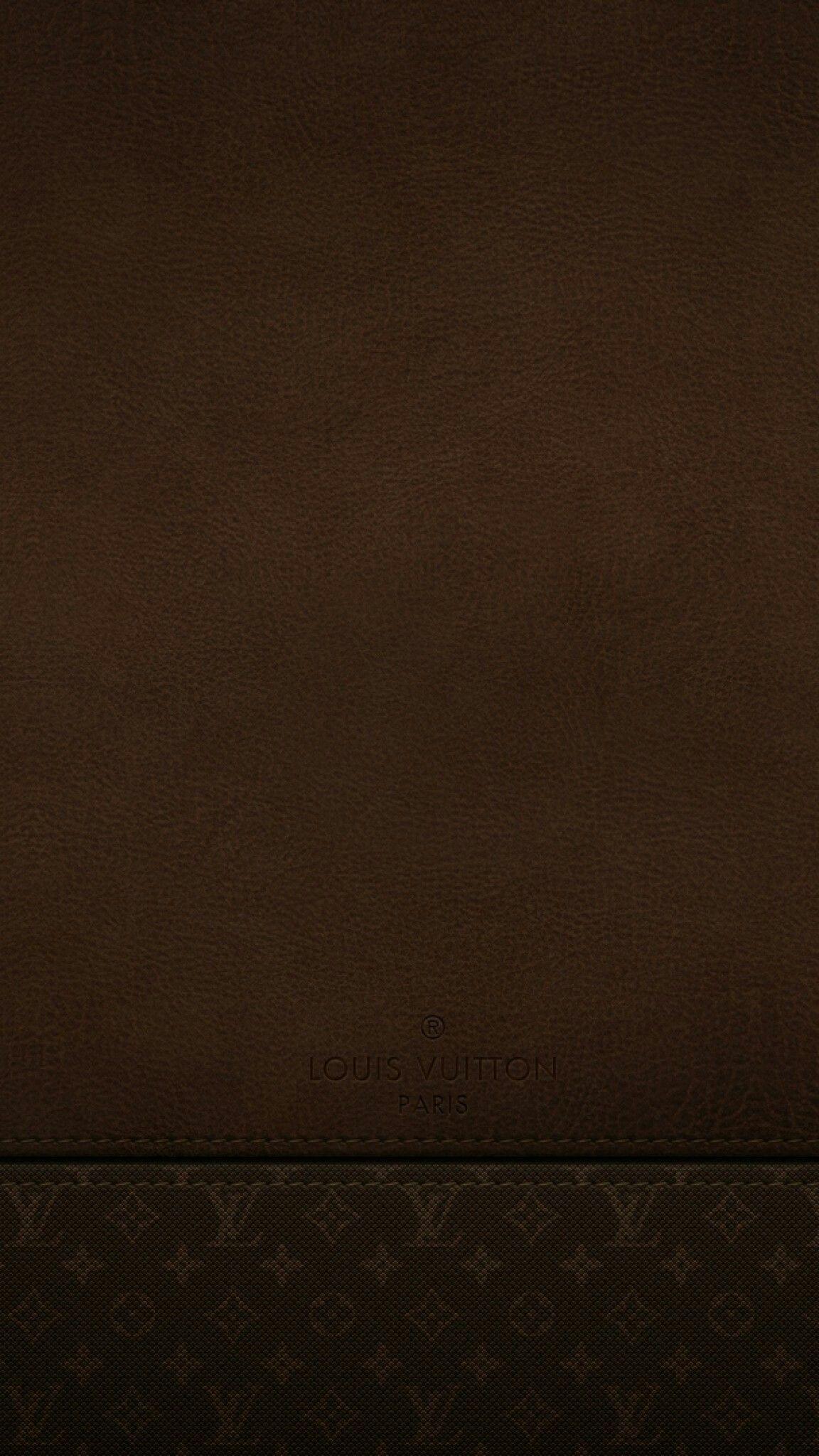 Brown Leather Louis Vuitton Wallpaper Light leak