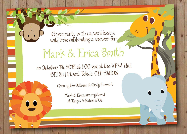 safari birthday invitations Invitaciones Pinterest