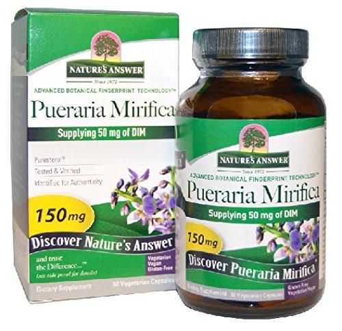 Nature S Answer Purestal Vegetarian Capsules Features Pueraria Mirifica Along With The Cruciferous Vegetable Extract Dim Herbalism Veggie Capsule Vegetarian