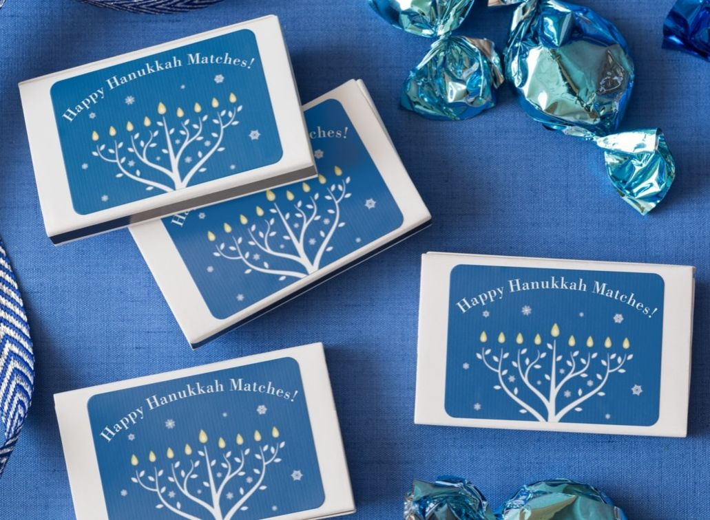 Easy to make Hanukkah matchboxes Just get Avery Durable