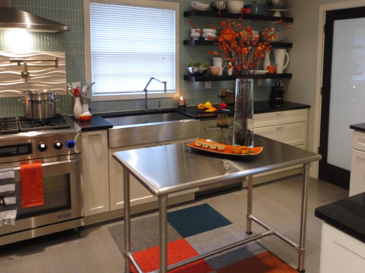 stainless steel kitchen islands on wheels kitchn pinterest rh pinterest com