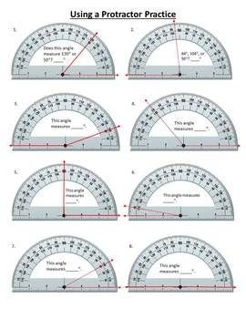 Printables Using A Protractor Worksheet teach students to measure angles with these protractor worksheets 1 using a teacherspayteachers com