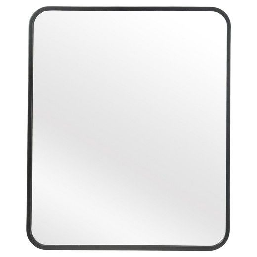 20 Quot X 24 Quot Mirror Satin Black Metal Frame Finish Vertical And Horizontial Hanging Capabilities Hanging Framed Mirror Wall Metal Frame Mirror Mirror 20 x 24 mirror