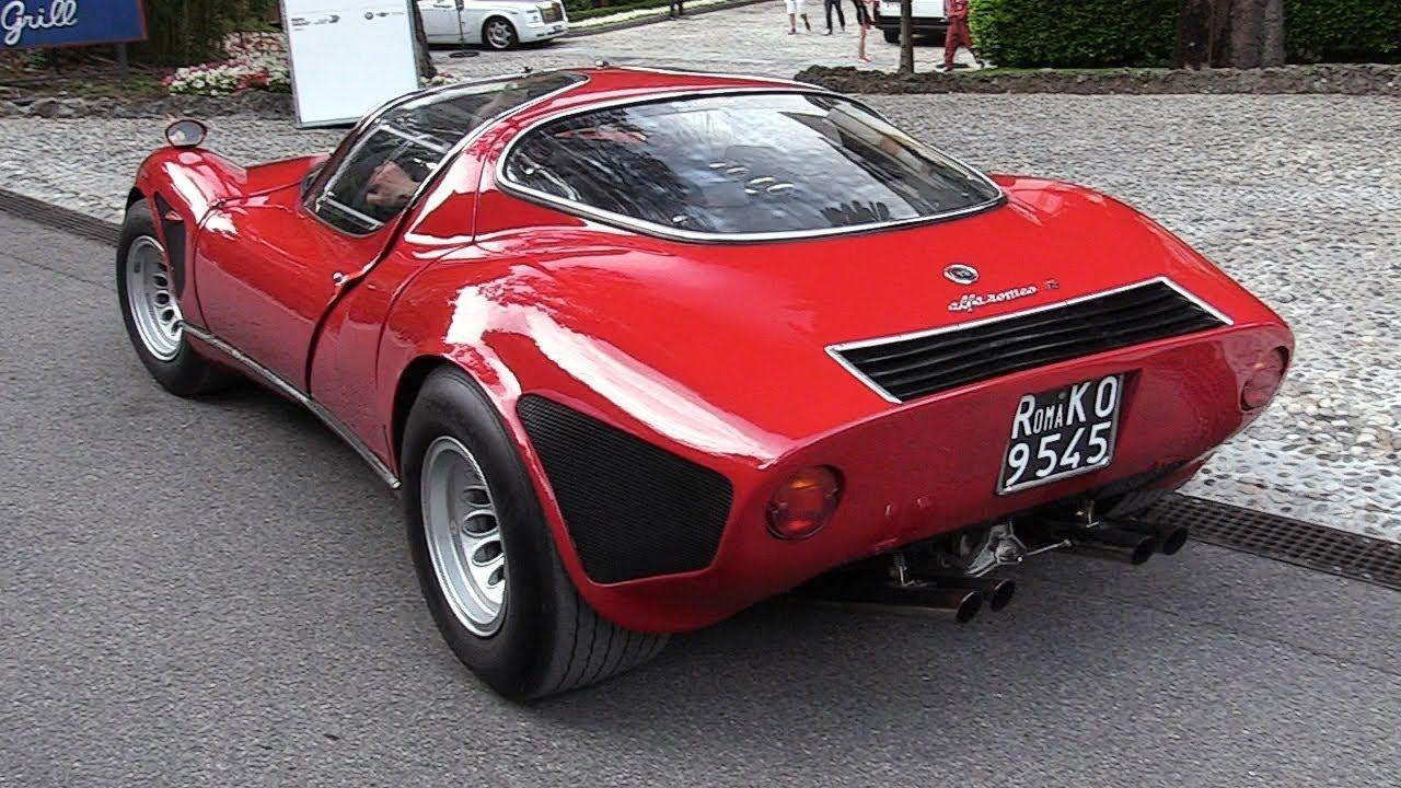 1968 alfa romeo 33 stradale 2 0 v8 engine sound warm up driving alfa romeo v8 engine alfa romeo cars 1968 alfa romeo 33 stradale 2 0 v8