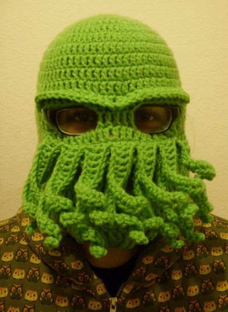 Cthulhu Ski Mask! | crafty hats I want to make | Pinterest ...