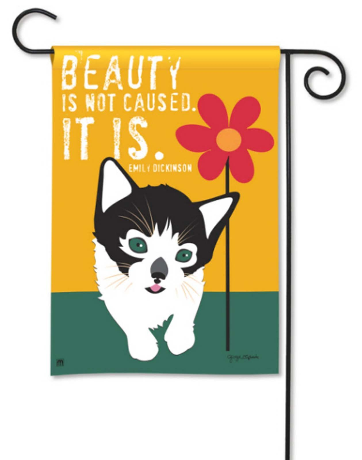 Perfect BreezeArt Garden Flag Beauty Is Not Caused It Is Cat 39001D