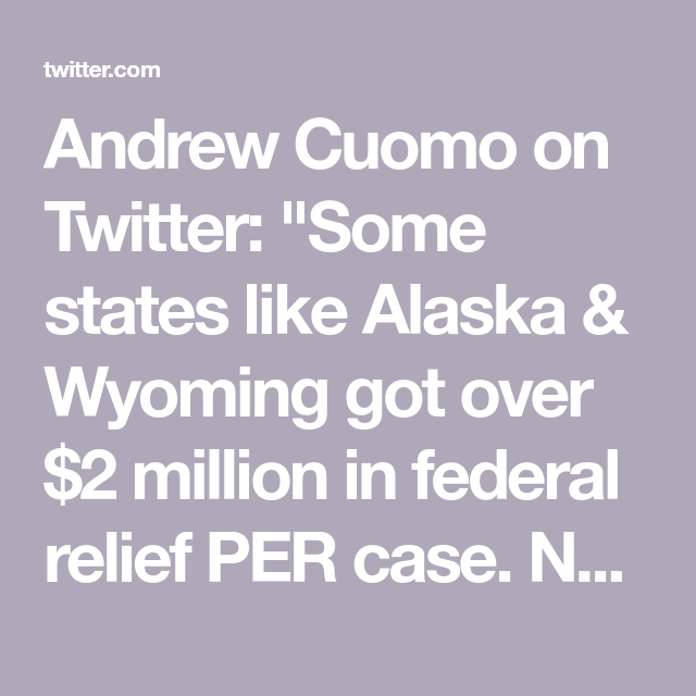 Andrew Cuomo On Twitter In 2020