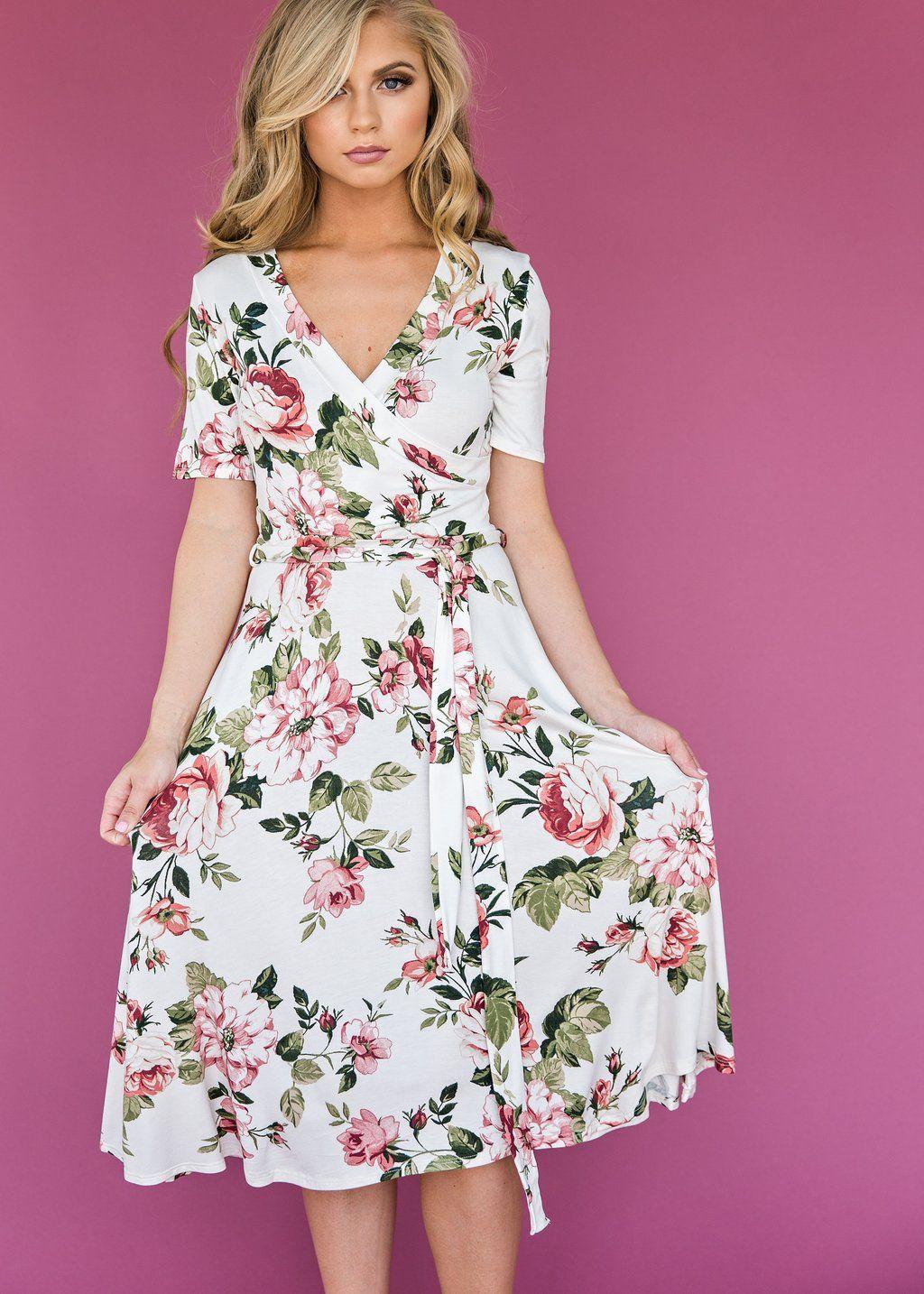 Liya Wrap Floral, fashion, style, floral dress, nursing friendly ...