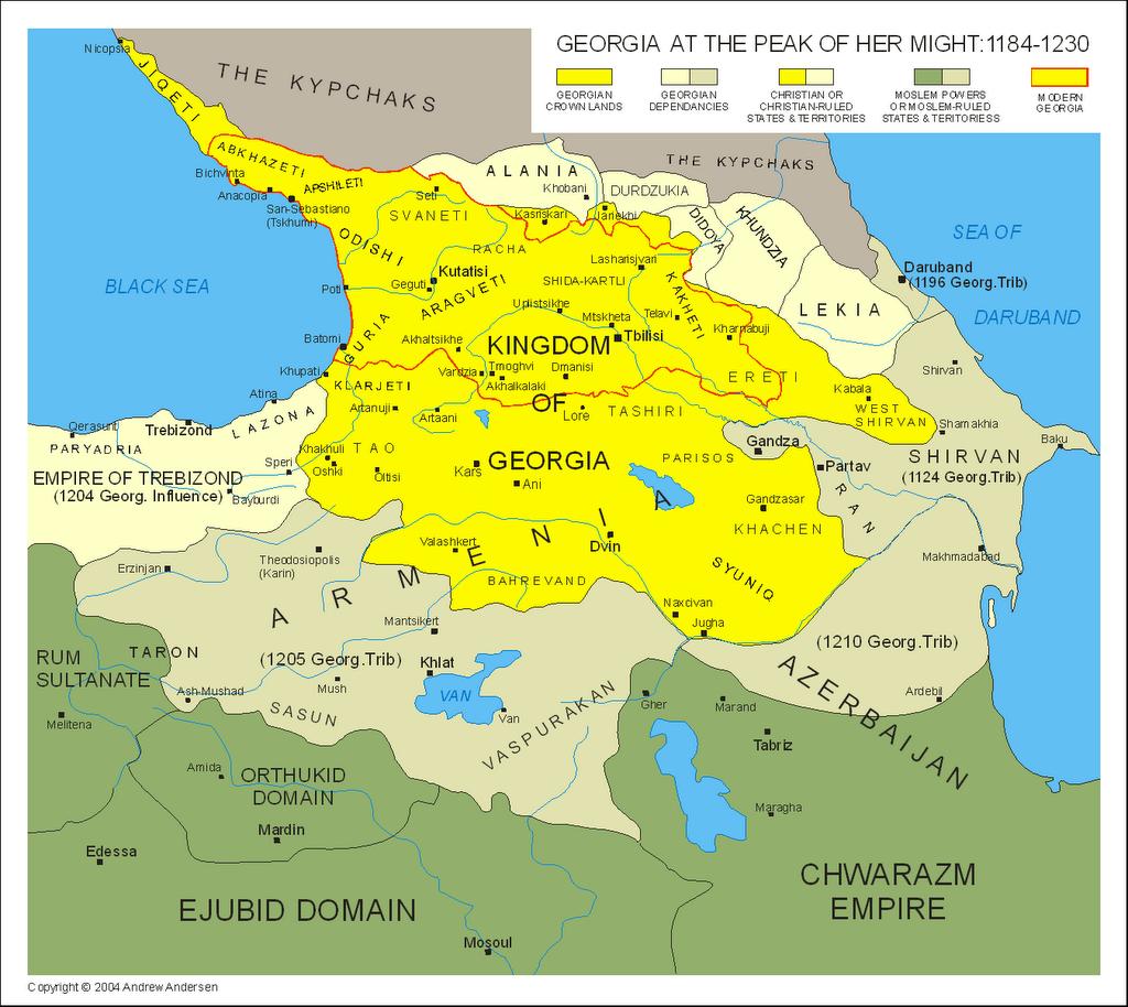 Map of the historic kingdom of Georgia History Maps Pinterest