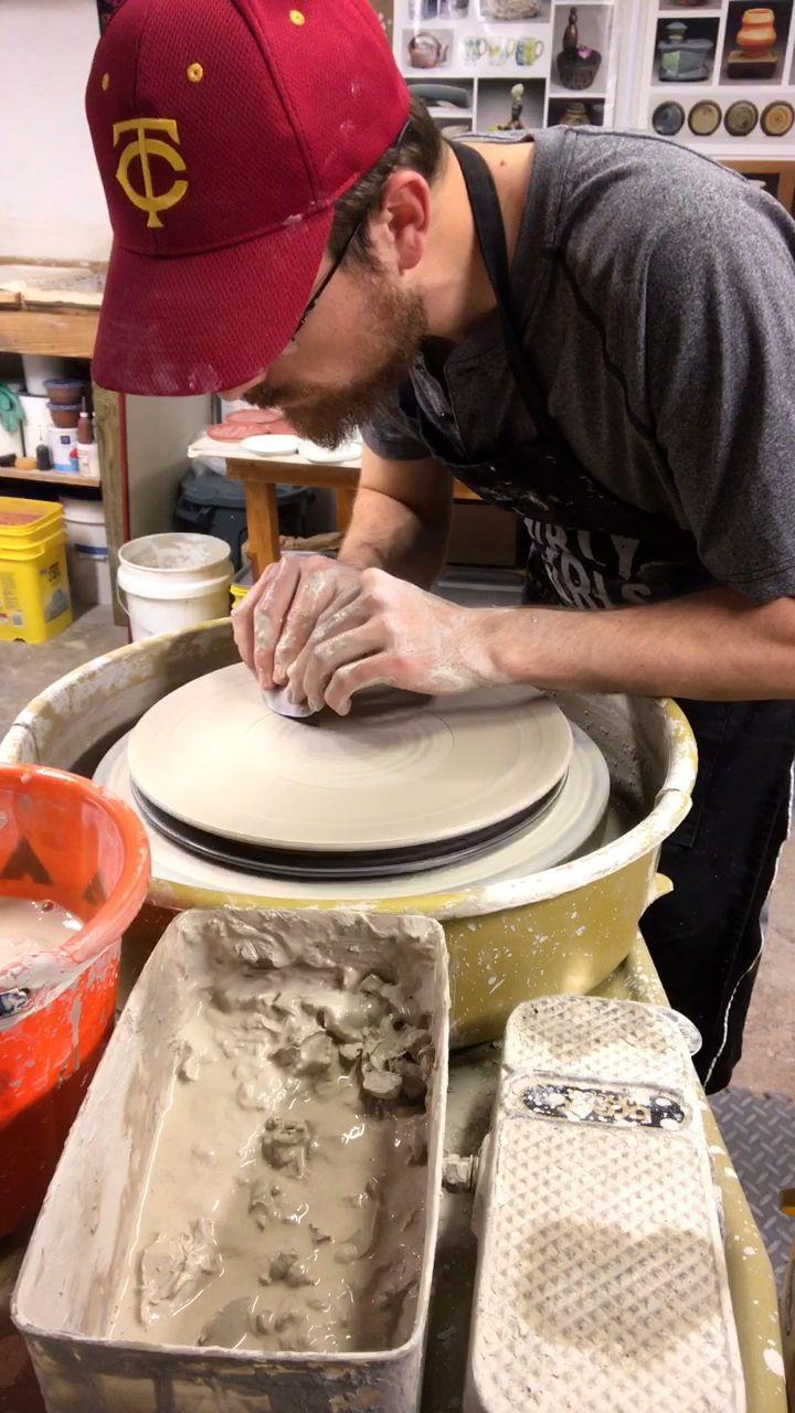 Ceramic plate wheel throwing tutorial - RD Ceramics
