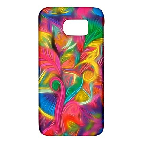 Colorful+Floral+Abstract+Painting+Samsung+Galaxy+S6+Hardshell+Case+