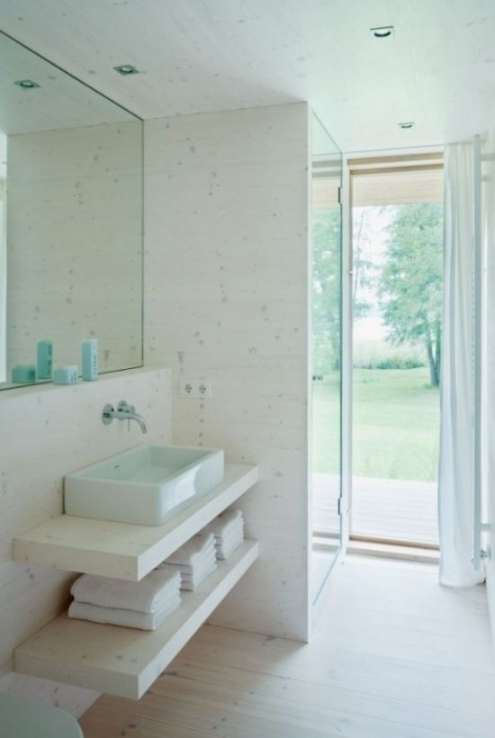 Waschtisch elegant simple ausstattung weiß sauber hell